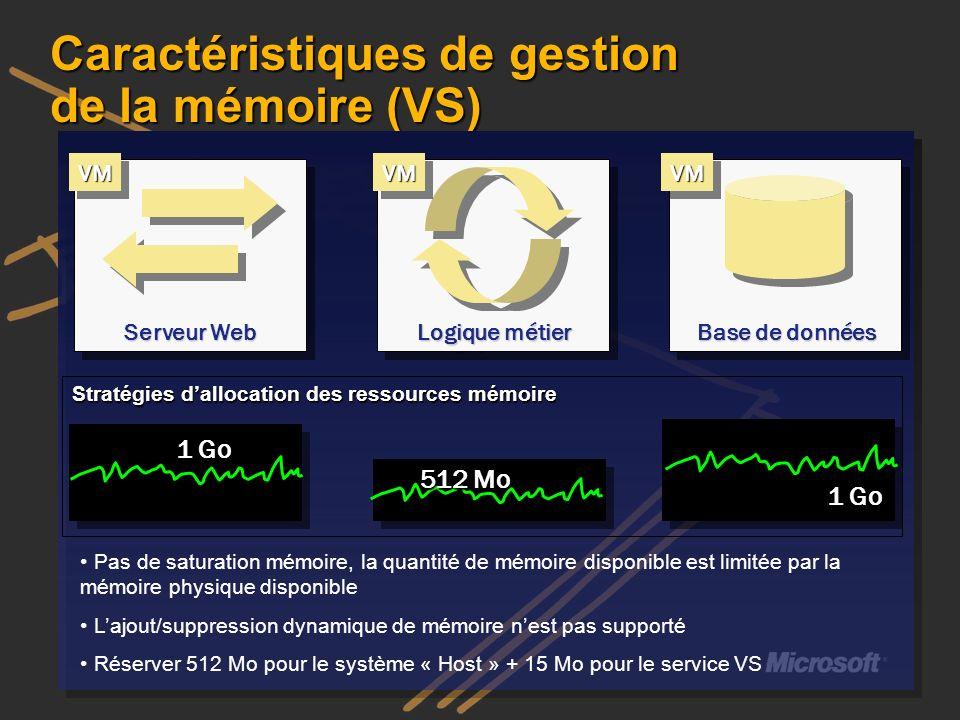 Caractéristiques de gestion de la mémoire (VS)