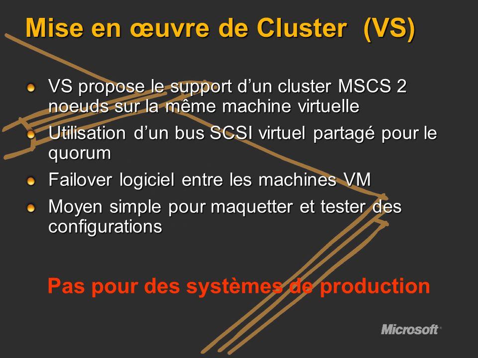 Mise en œuvre de Cluster (VS)