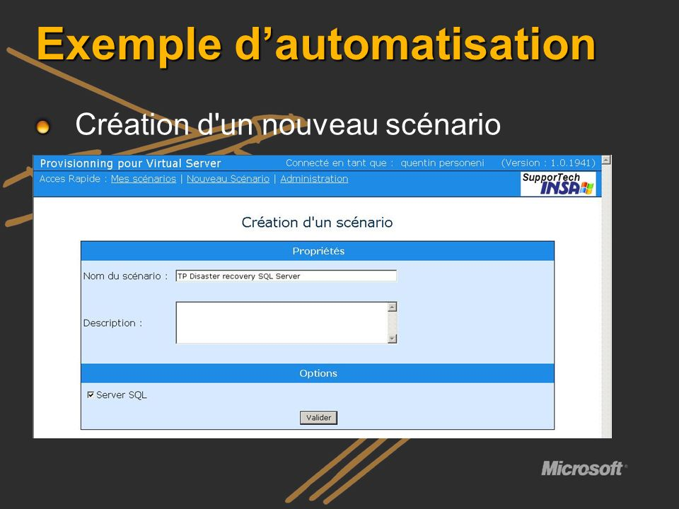 Exemple d'automatisation