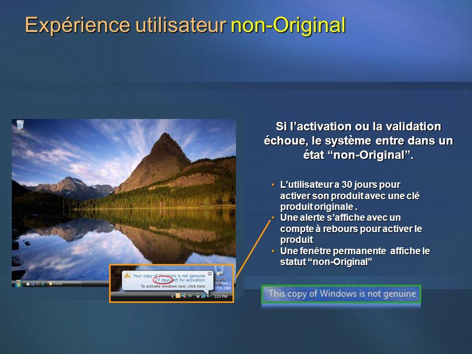 Expérience utilisateur non-Original