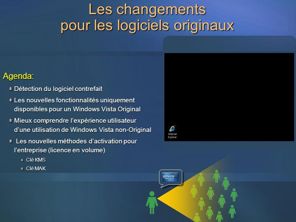 Les changements pour les logiciels originaux