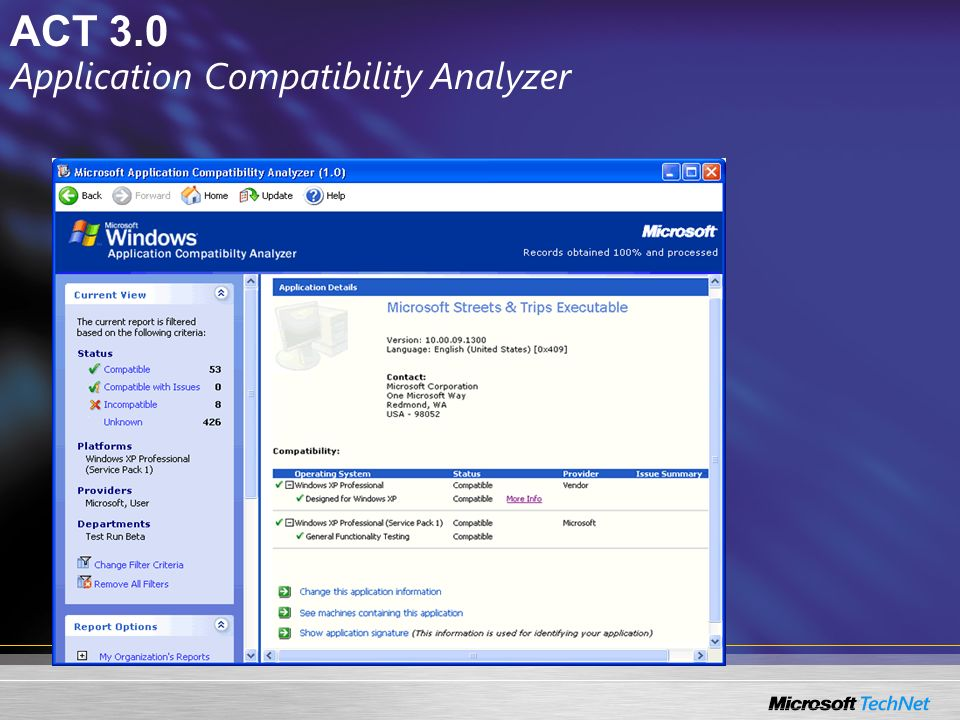 Application Compatibility Analyzer
