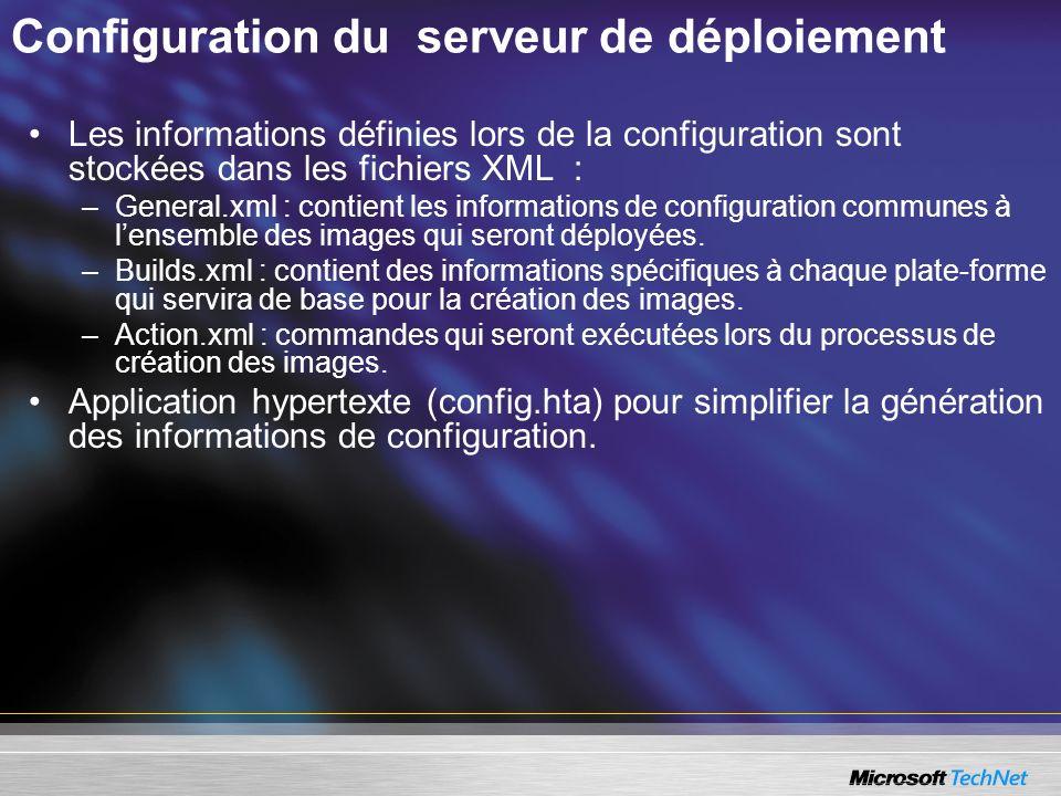Configuration du serveur de déploiement