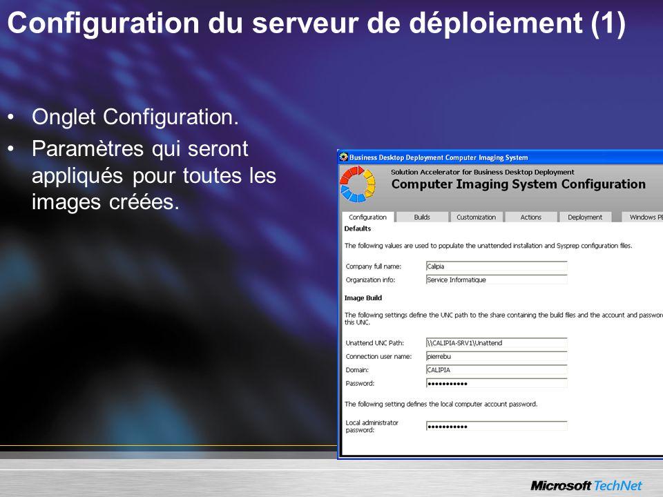 Configuration du serveur de déploiement (1)
