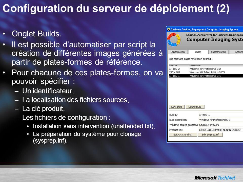 Configuration du serveur de déploiement (2)