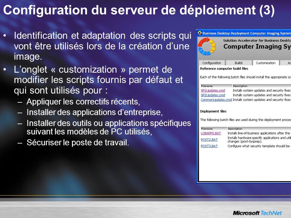 Configuration du serveur de déploiement (3)