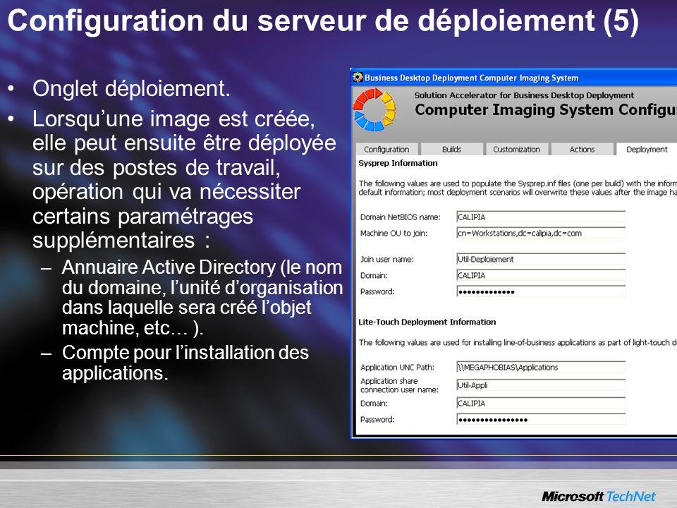 Configuration du serveur de déploiement (5)