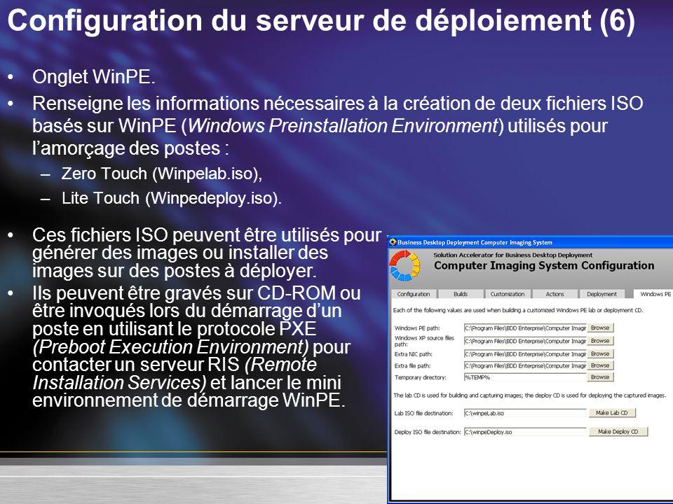 Configuration du serveur de déploiement (6)