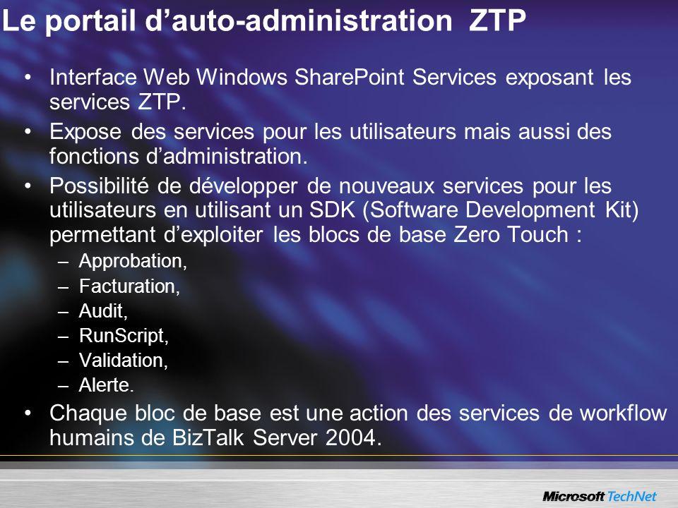 Le portail d'auto-administration ZTP