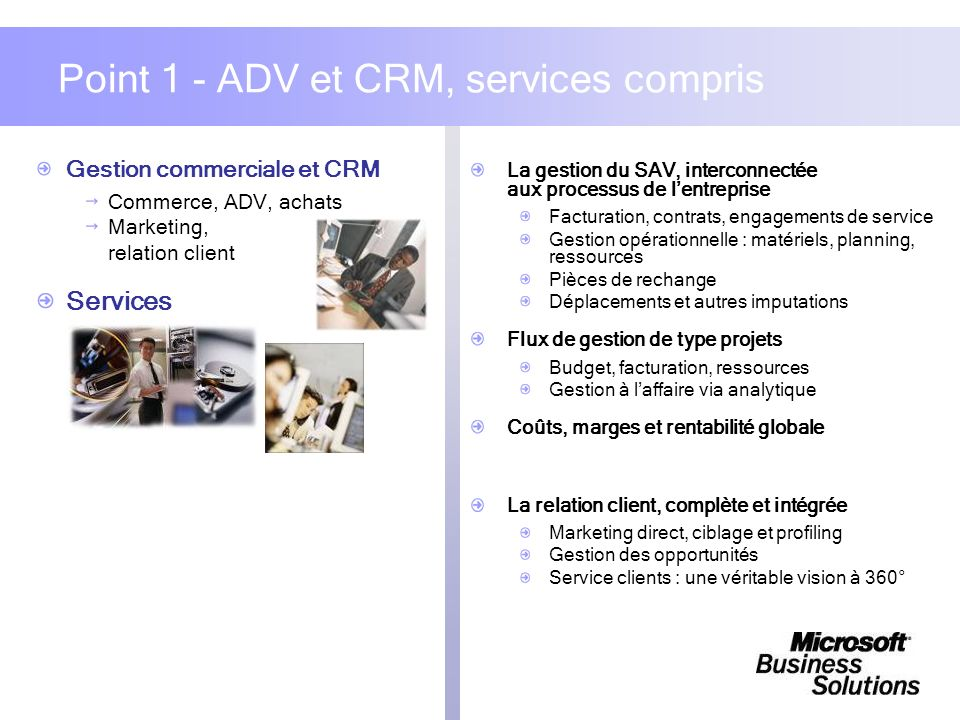Point 1 - ADV et CRM, services compris