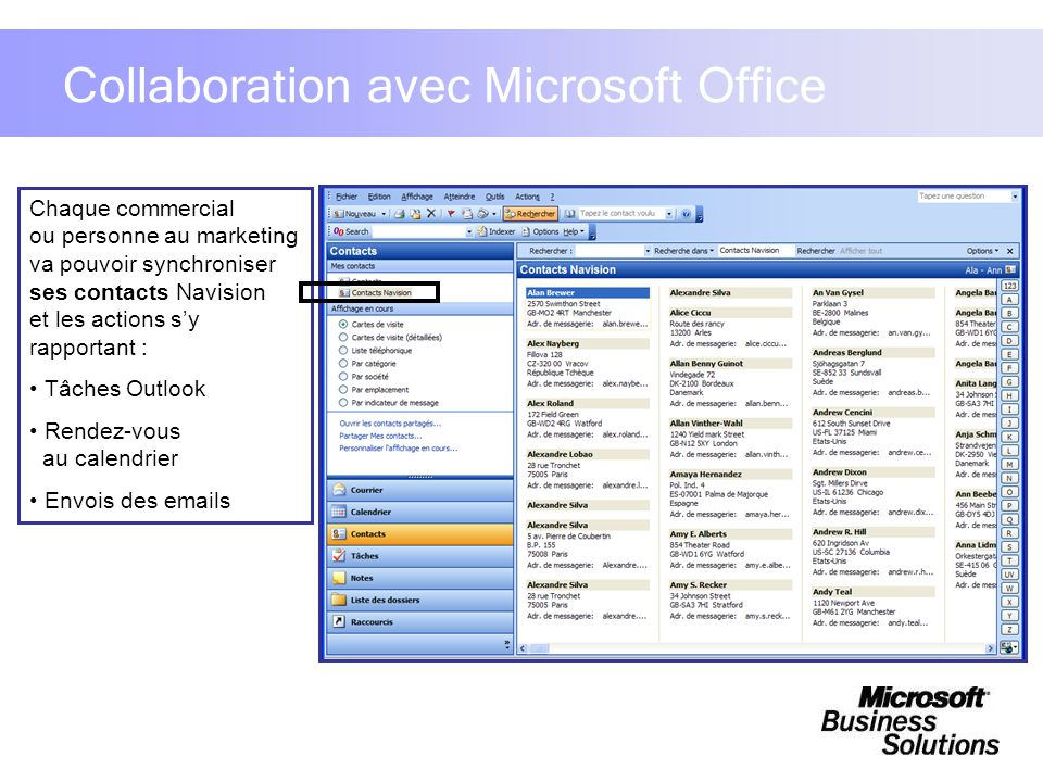 Collaboration avec Microsoft Office