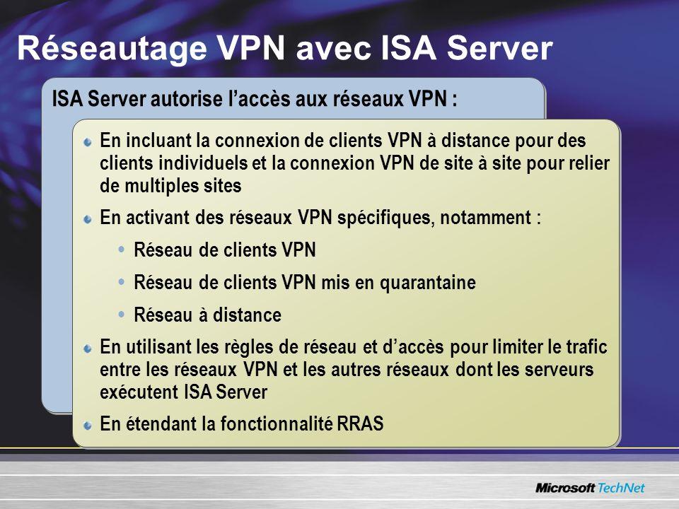 Réseautage VPN avec ISA Server