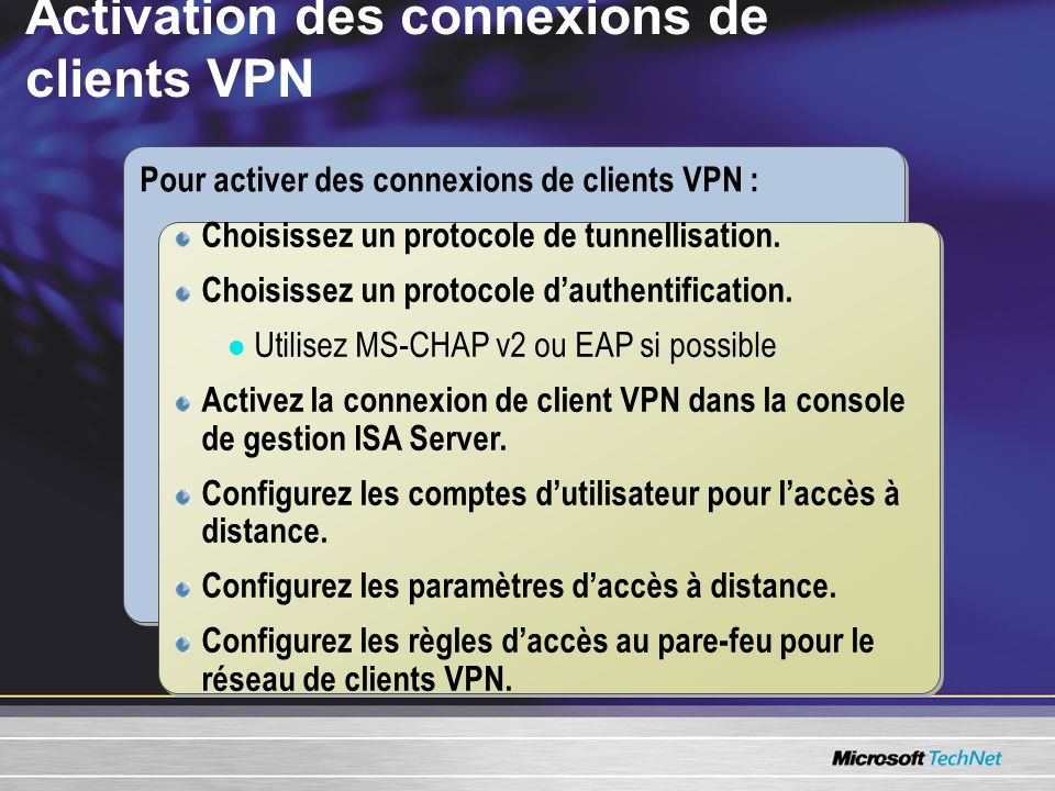 Activation des connexions de clients VPN