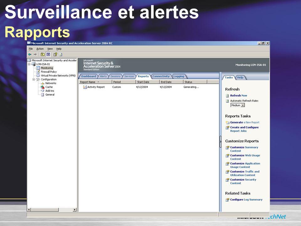 Surveillance et alertes Rapports