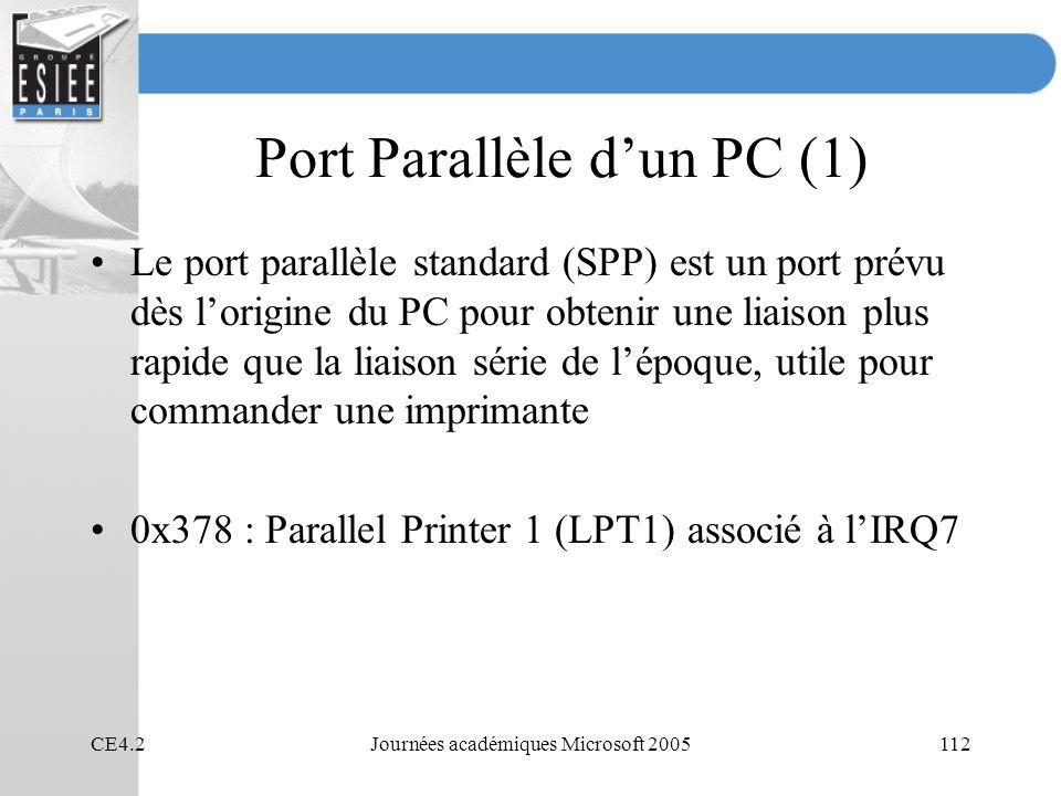 Port Parallèle d'un PC (1)