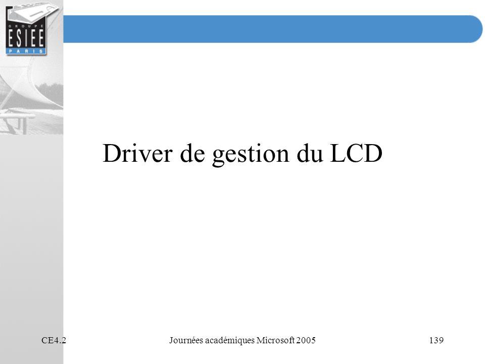 Driver de gestion du LCD