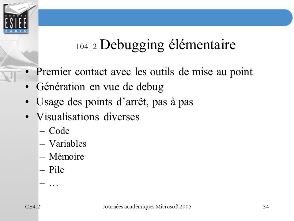 104_2 Debugging élémentaire