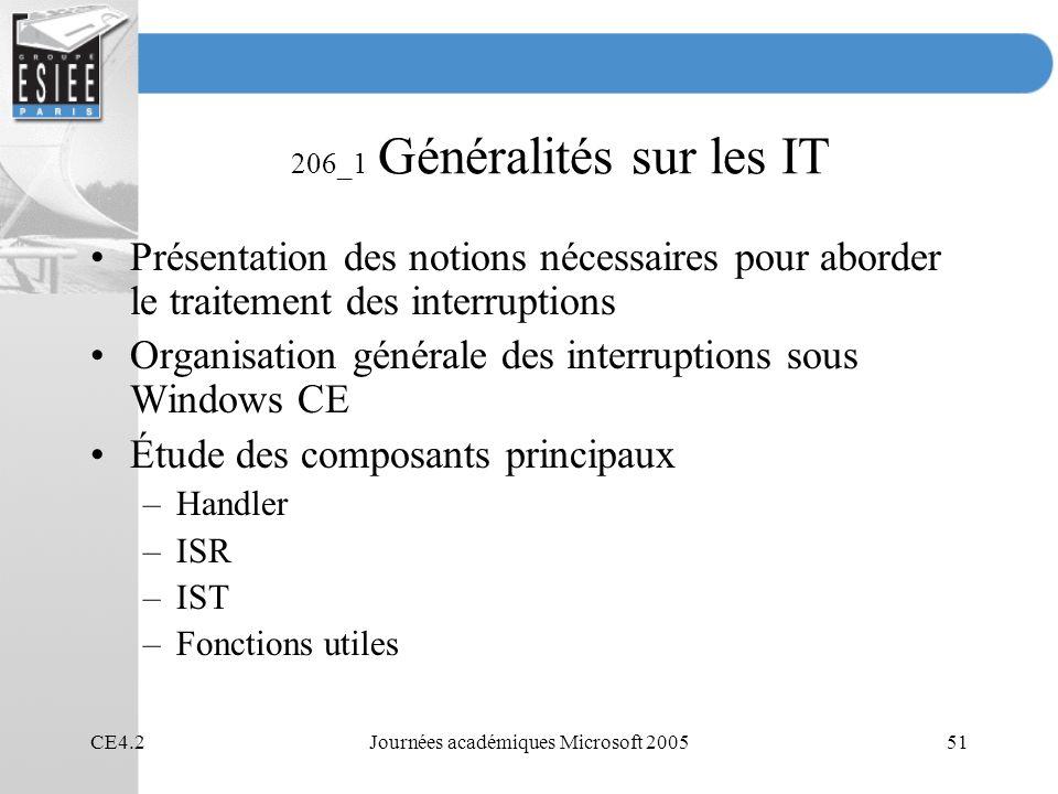 206_1 Généralités sur les IT