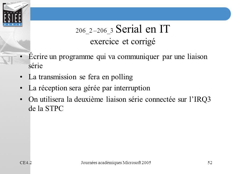 206_2 –206_3 Serial en IT exercice et corrigé