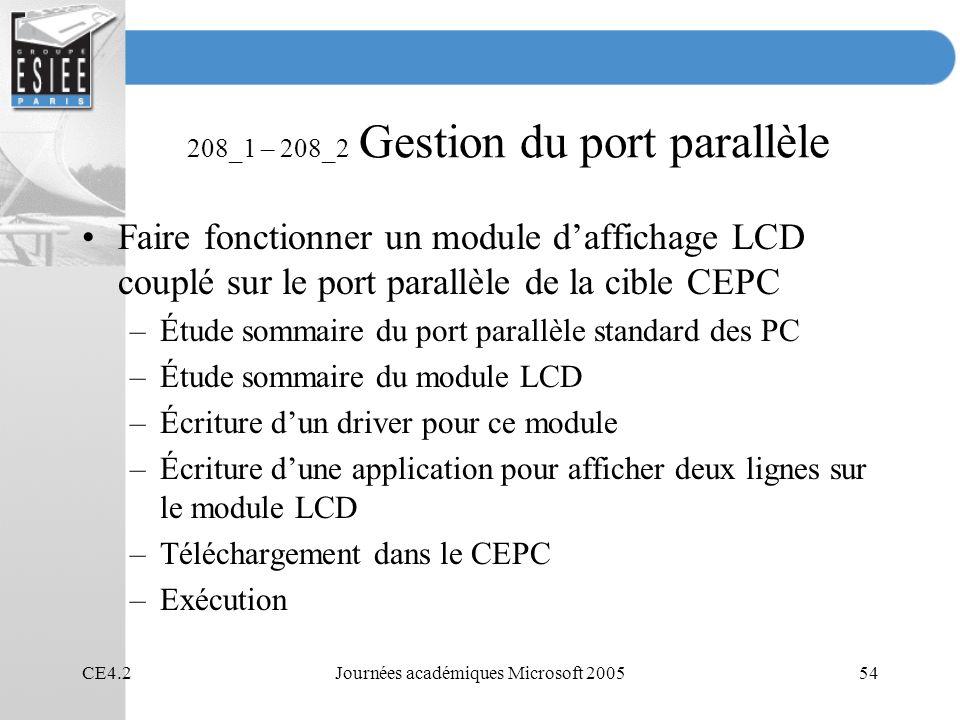 208_1 – 208_2 Gestion du port parallèle
