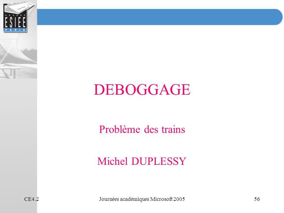 Problème des trains Michel DUPLESSY