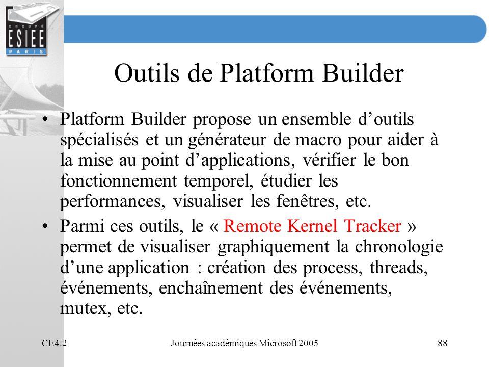 Outils de Platform Builder