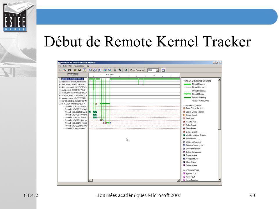 Début de Remote Kernel Tracker