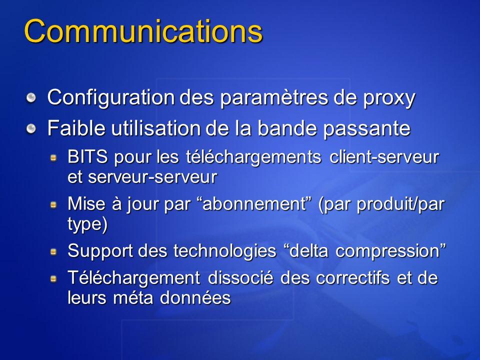 Communications Configuration des paramètres de proxy