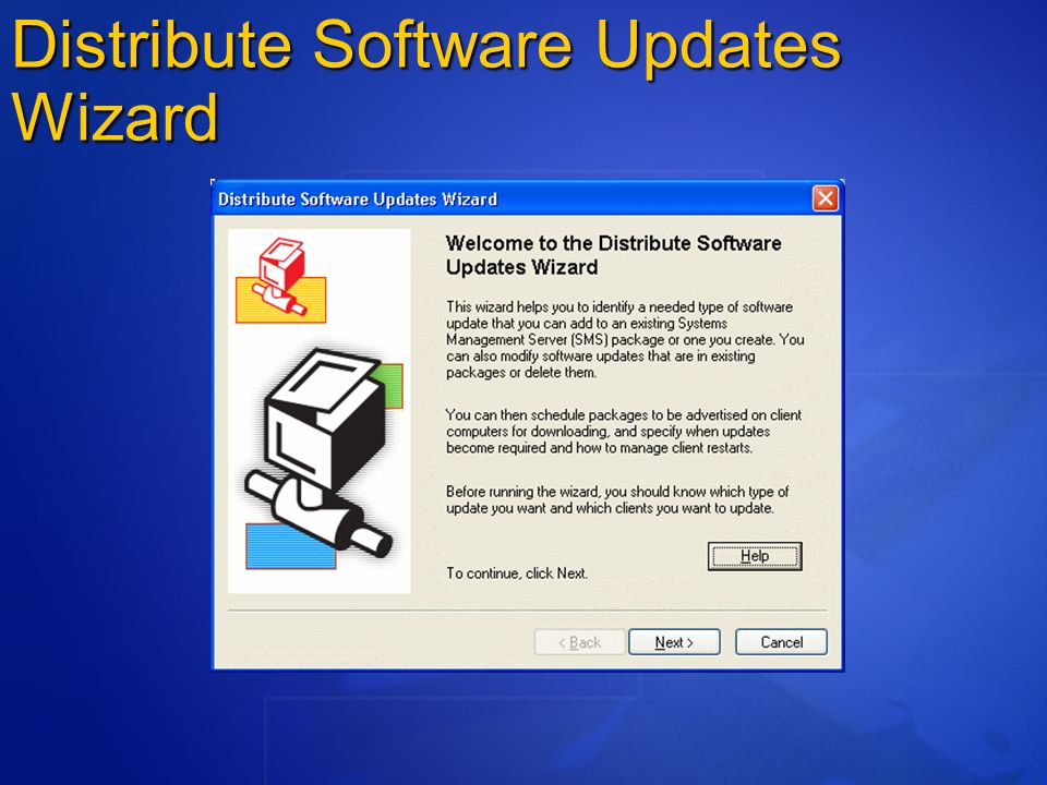 Distribute Software Updates Wizard