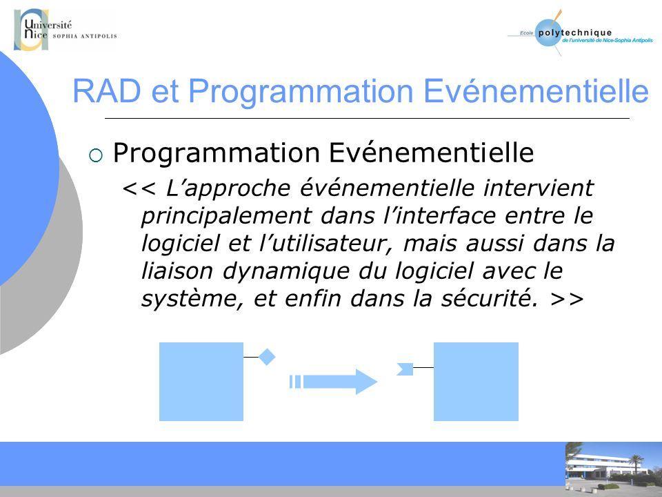 RAD et Programmation Evénementielle
