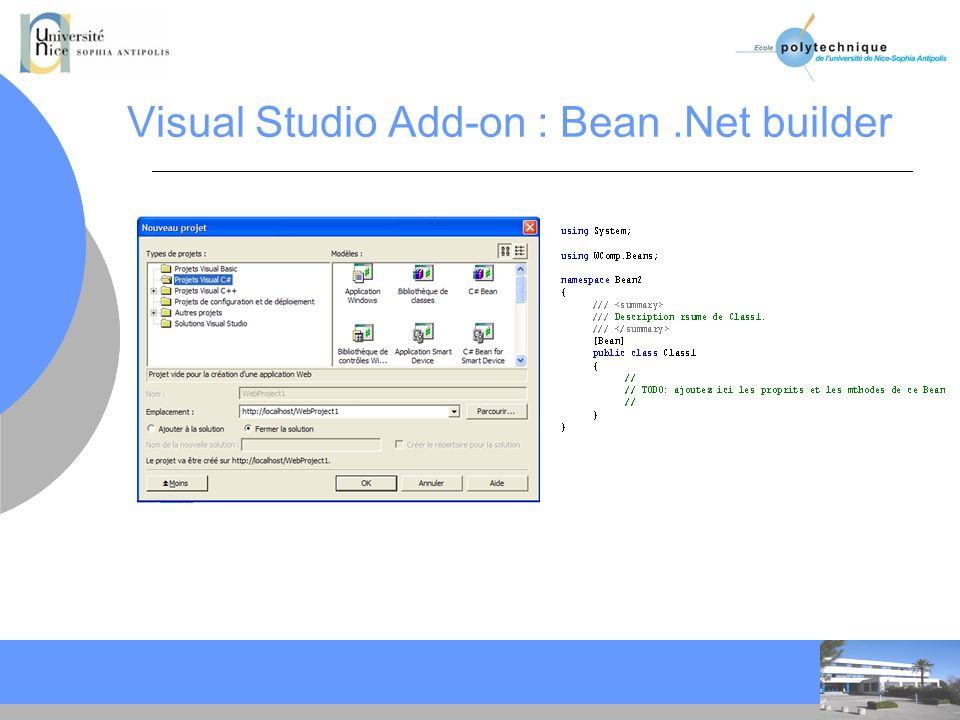 Visual Studio Add-on : Bean .Net builder