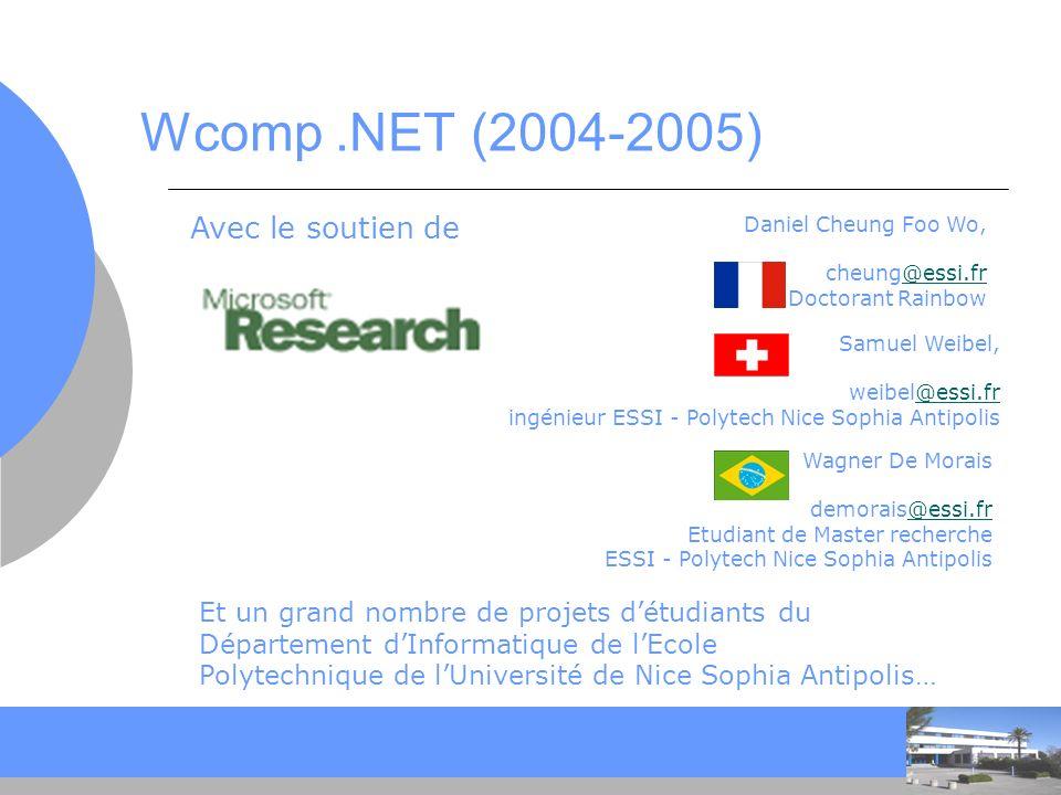 Wcomp .NET (2004-2005) Avec le soutien de