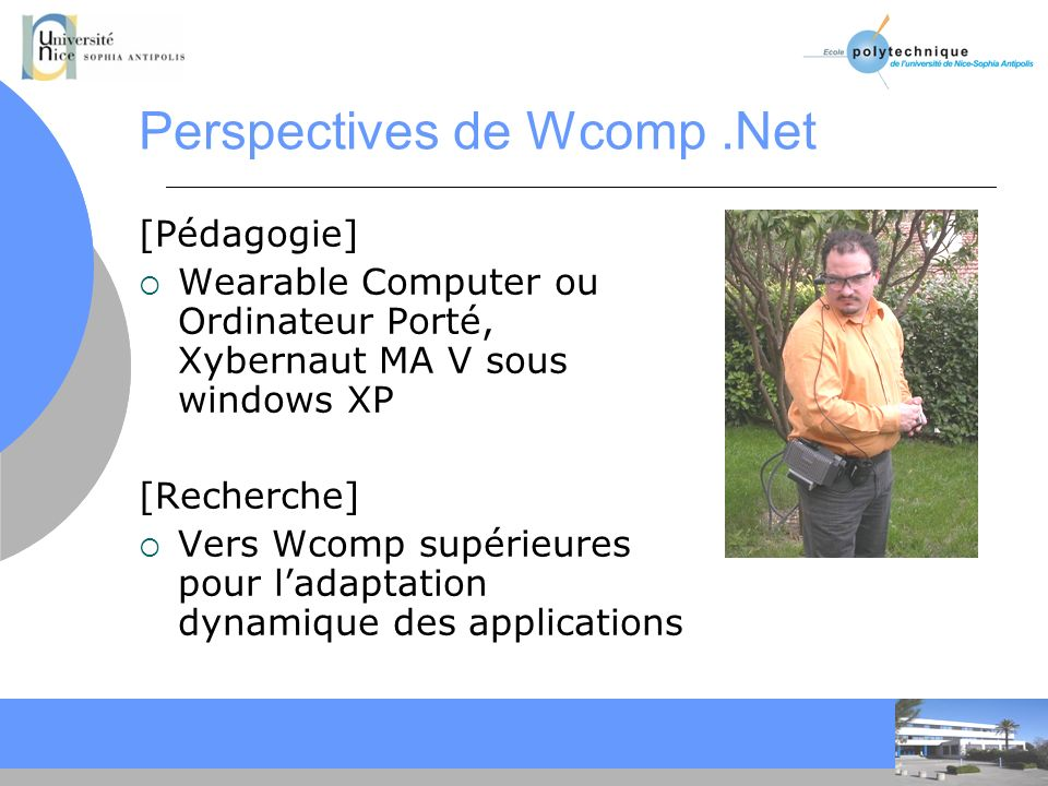 Perspectives de Wcomp .Net