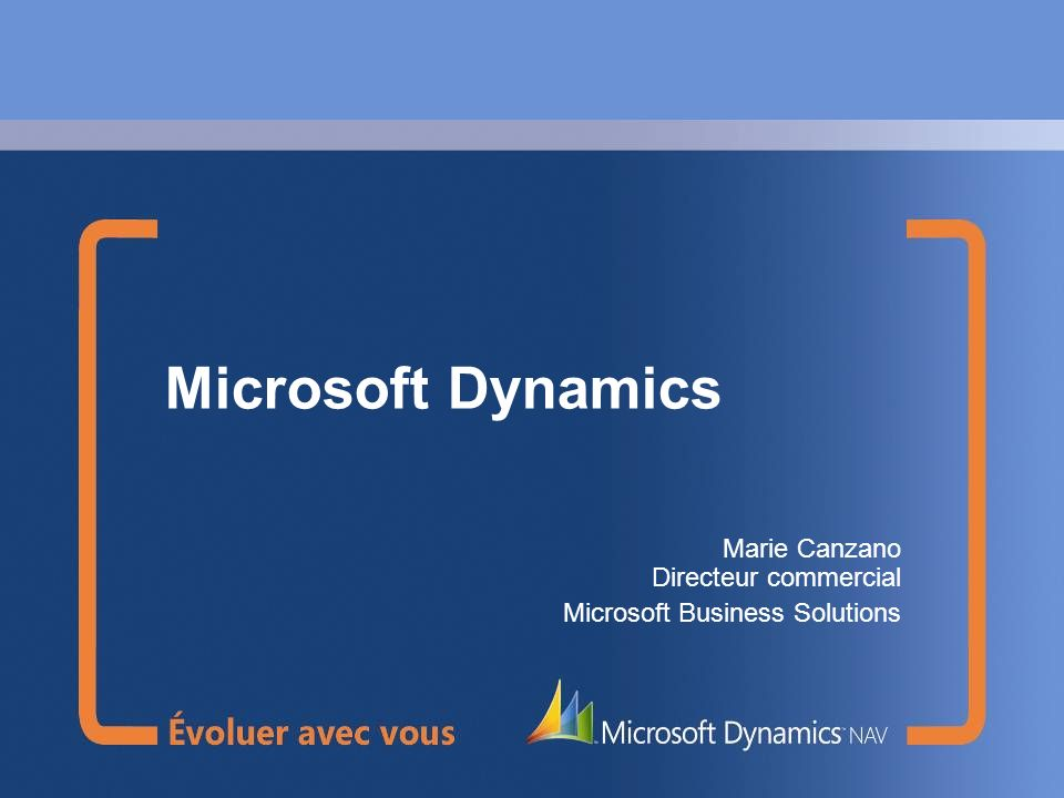 Microsoft Dynamics Marie Canzano Directeur commercial