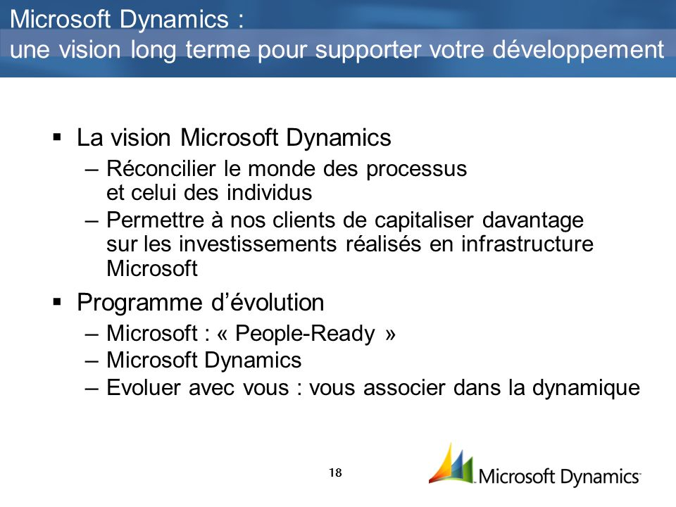Microsoft Dynamics : une vision long terme pour supporter votre développement