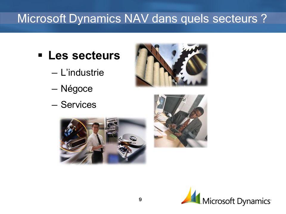 Microsoft Dynamics NAV dans quels secteurs
