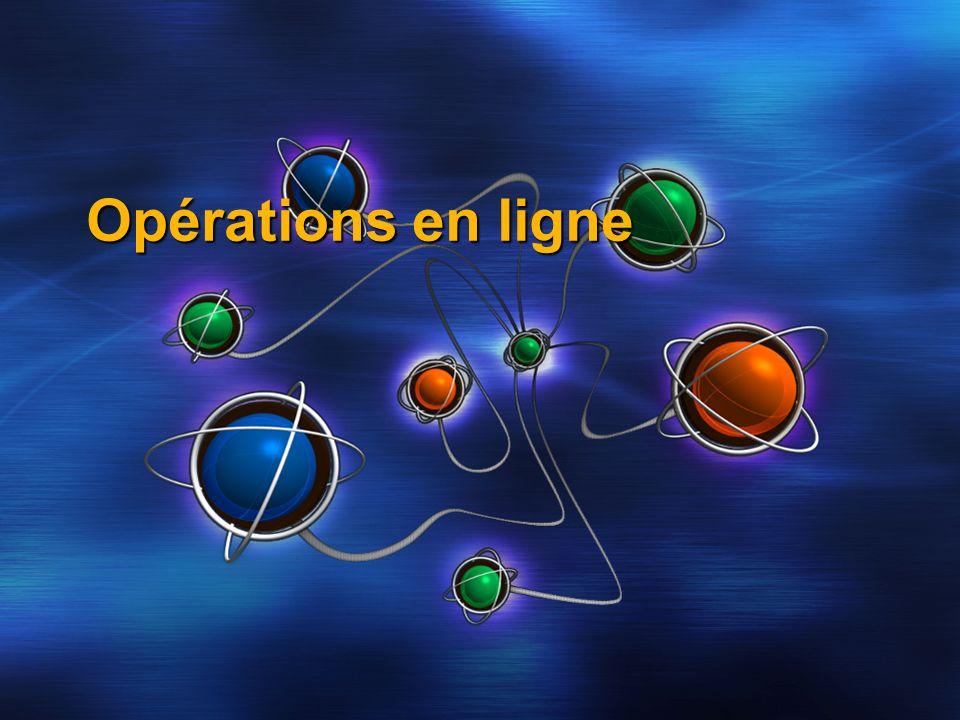 Opérations en ligne
