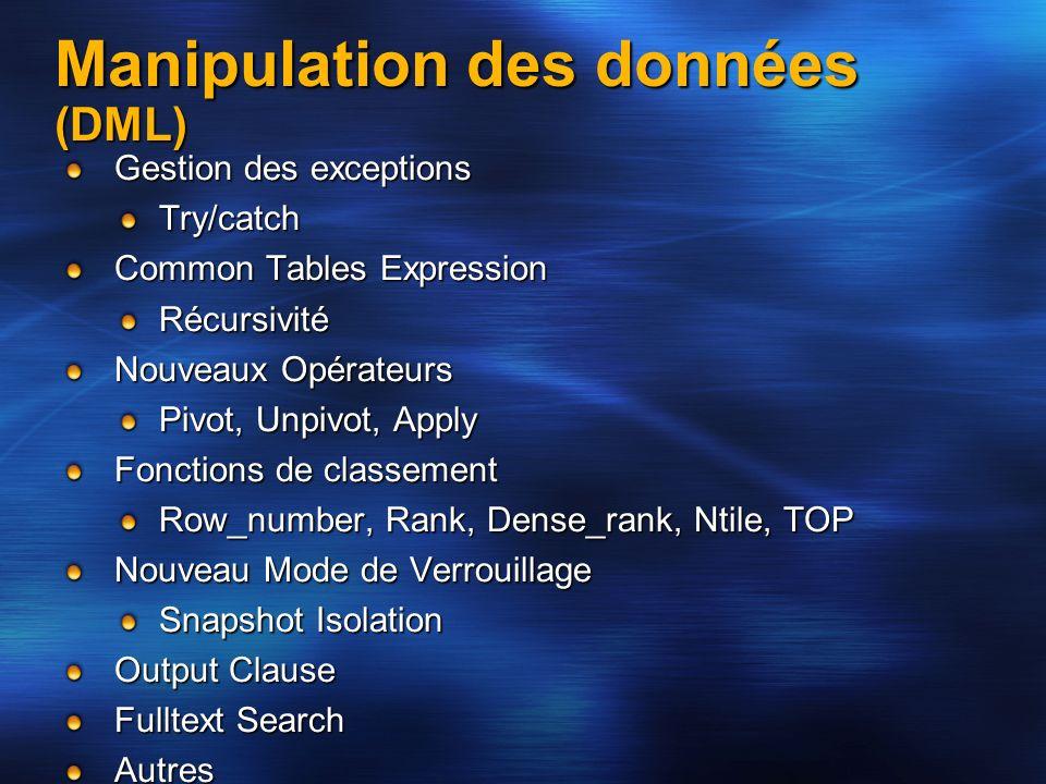 Manipulation des données (DML)