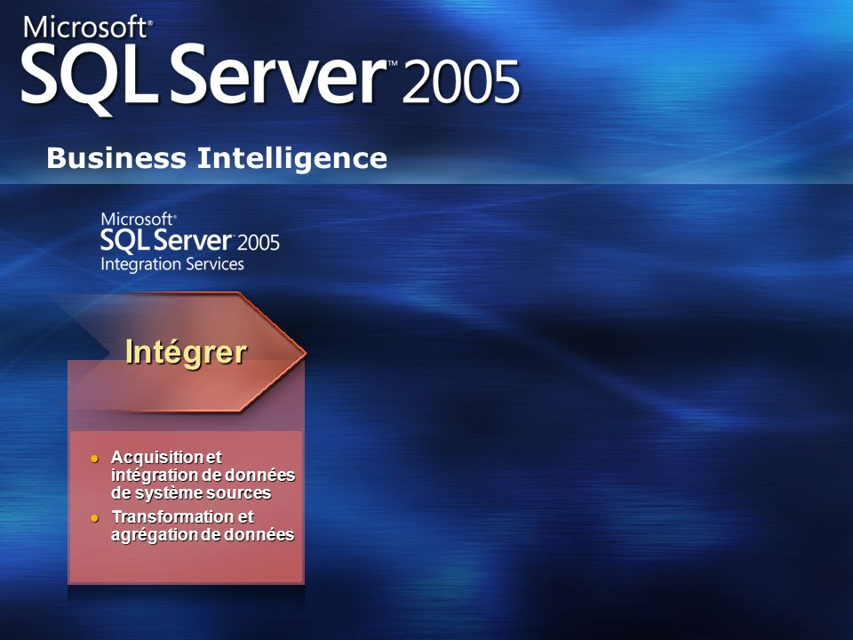 Intégrer Business Intelligence