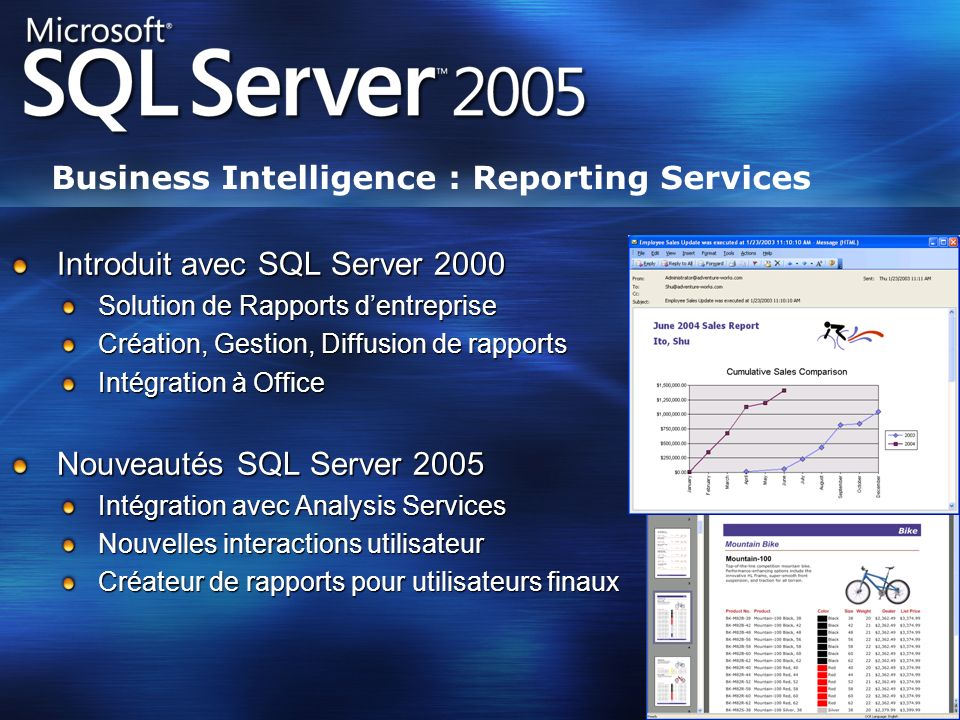 Business Intelligence : Reporting Services