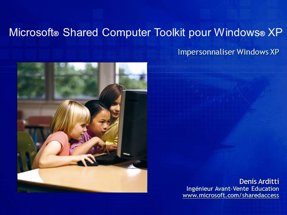 Microsoft® Shared Computer Toolkit pour Windows® XP
