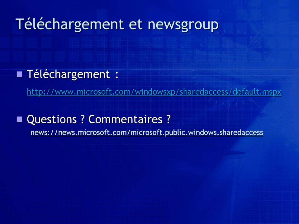 Téléchargement et newsgroup