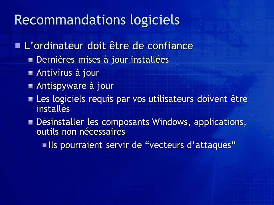 Recommandations logiciels