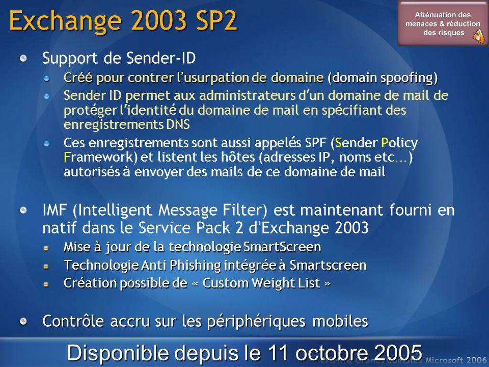 Disponible depuis le 11 octobre 2005