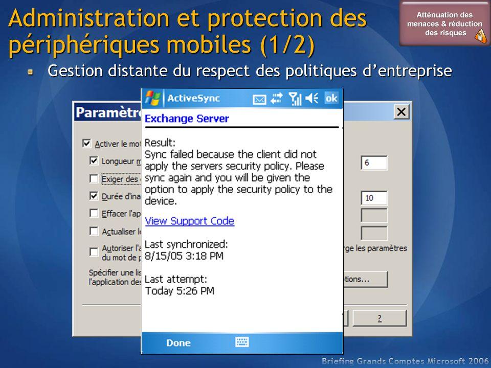 Administration et protection des périphériques mobiles (1/2)
