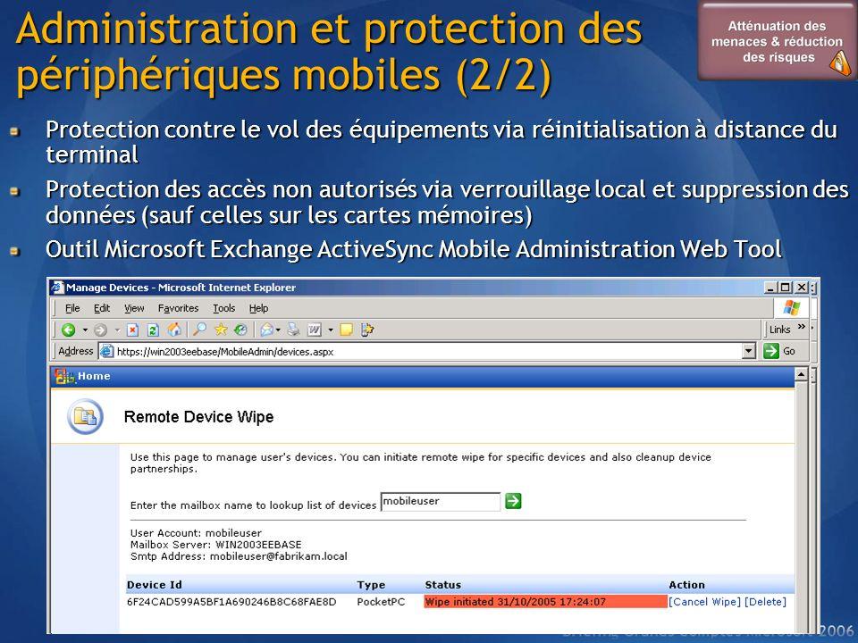 Administration et protection des périphériques mobiles (2/2)