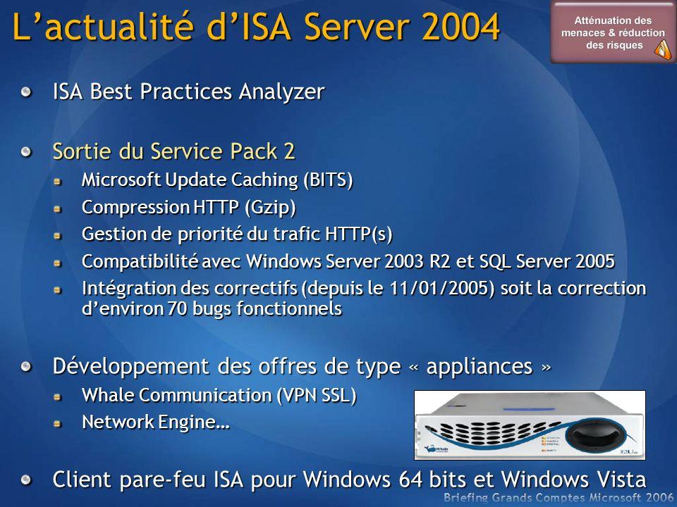 L'actualité d'ISA Server 2004