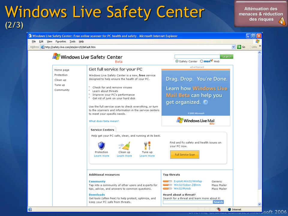 Windows Live Safety Center (2/3)