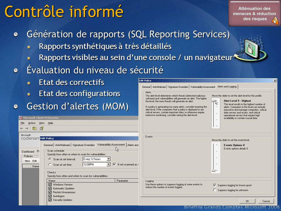 Contrôle informé Génération de rapports (SQL Reporting Services)