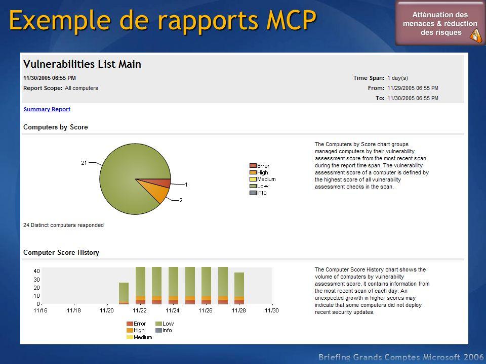 Exemple de rapports MCP